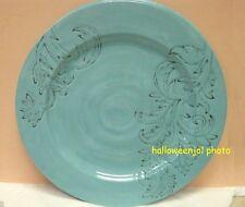 NICOLE MILLER AQUA BLUE DINNER Buffet PLATES Floral Scroll MELAMINE SET of 4 New & Nicole Miller Melamine Dinnerware \u0026 Serving Dishes | eBay