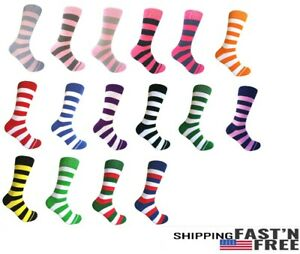 Men's Mid-calf Various Colors Multi-occasion Stripes Dress Socks