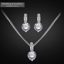 Wedding Jewelry Set, Demoiselle D'Honneur Cristal Strass Collier & Boucles D'oreilles Bijoux