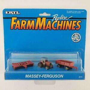 VTG ERTL Farm Machines Massey-Ferguson Tractor Wagon Plow Die-Cast Replica New
