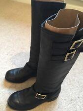 Jimmy Choo Yule biker boots size 37 UK size 4