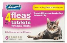 Johnsons 4flea Cat kitten tablets 3pk 6pk bulk buy - Killer fleas treatment tabs
