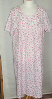 NEW BHS PINK floral Printed Cotton short sleeve Nightdress Sizes 12 16 20