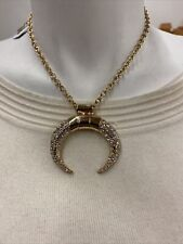 GUESS    necklace silver plating   chain New with tag crystal stone