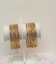 Indian Gold Plated Bangles Set 12 Chudiya Size 2.8 Fashion Jewellery Women