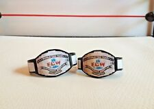 Custom Made ECW Tag Team Title Belts For WWE Mattel Elite Basic Figures