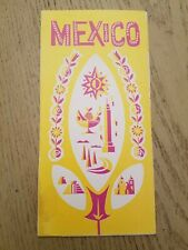 VTG 1960s OFFICIAL Mexico Mexican Government Tourist Department Info Brochure