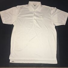 Peter Millar Summer Comfort Polo Indian Wells Golf Resort Shirt Mens Large White