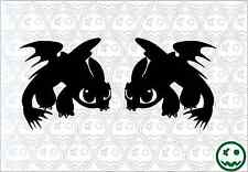 HOW TO TRAIN YOUR DRAGON TOOTHLESS Sticker JDM Car 2Xpack Forward + Mirrored.