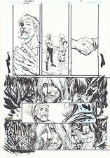 Green Arrow / Black Canary #26 p.8 - 2010 ink art only by Bill Sienkiewicz Comic Art