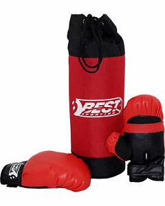 Best Sporting 16198868 - Box-Set für Kinder, Boxsack & Boxhandschuhe
