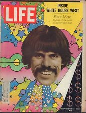 LIFE September 5,1969 Peter Max / Nixon in White House West / GI Babies of Age