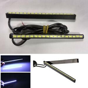 2x 7.5W Ultra-Slim Car DRL LED Fog Light Daytime Running Lamp Strip Waterproof