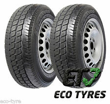 2X Tyres 195 70 R15C 104/102R 8PR HIFLY SUPER 2000 M+S E C 71dB