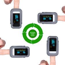 Pulse Pulsmesser Oximeter SPO2 Blut Sauerstoff Sättigung Finger Meter Monitor DE