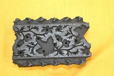 Indian Wood block Floral Hand carved border fine pattern decorative stamps gift