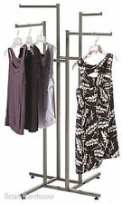 Clothes Rack Four Way 4 Straight Arms Clothing Garment Retail Display 72""