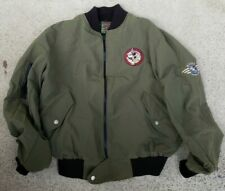 90s mickey Mouse crew fly boy Bomber Aviation Jacket Victory Combat Leader xl