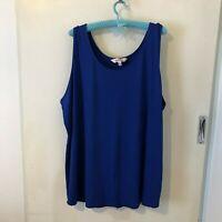 Avella Blue Tank Top Size 26 Womens