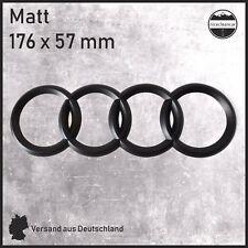 Emblem für AUDI Audi Schwarz Matt Sticker Aufkleber Logo Zeichen Abdeckung NEU