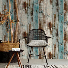 6m Vintage Wood Panel Wallpaper Self-Adhesive Wall Covering Furniture Stickers