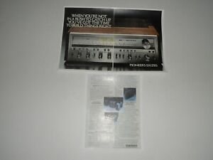 Pioneer SX-1250 Ultimate Receiver Ad, 3 pg, 1977, Article, Specs, Info, Frame It