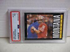 1985 Topps Joe Montana PSA NM 7 Football Card #157 NFL HOF 49er's
