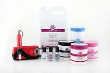 Synergy Acrylic Starter Kit Pro- Red 3--> includes monomer & E-File!!