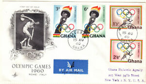 Ghana FDC 1960 Olympic Games on pictorial cover