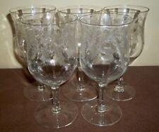 FIVE Tiffin SPECIAL THISTLE Water GOBLETS Elegant Depression Glass