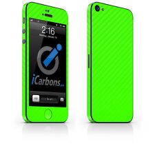 iPhone 5 Skin - Green Carbon Fibre skin by iCarbons