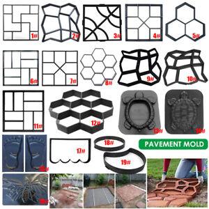 Garden Paving Pavement Mold Patio Concrete Stone Path Walk Maker Reusable Mould