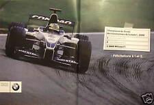 PUBLICITÉ 2000 BMW WILLIAMS F1 PREMIÈRE ANNÉE PREMIER PODIUM - FORMULE 1