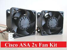 Set of 2x Quiet version Fans for Cisco ASA5505 ASA5510 ASA5520 ASA5540 ASA5550