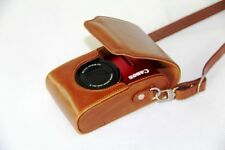 Brown camera Leather case bag for Sony DSC-H90 HX30V HX20V H70 HX5 HX5V (TAN) T6