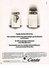 PUBLICITE  1972   CANDY  lave linge machine  à laver
