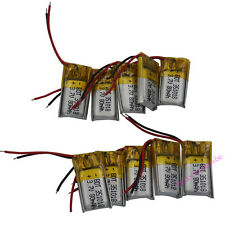 10 pcs 3.7V 80 mAh Polymer Li battery cells For Pen GPS Headset Bluetooth 351018