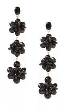 NWT Banana Republic Bead Cluster Statement Earrings (black)