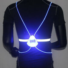Bicycle Bike Riding Night Running Vest Light Led Fiber Optic Warning Reflective