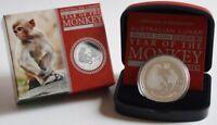 Australien 1 Dollar 2016 Lunar II Affe 1 Oz Silber PP