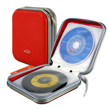 CD Dvd 40 Disc Storage Carry Case Cover Wallet Holder Bag Plastic Games Disk Red