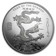 10 oz Silver Round - APMEX (2012 Year of the Dragon) - SKU #65014