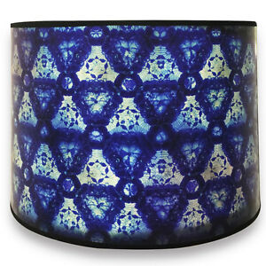 Royal Designs Decorative Lamp Shade - Made in USA - Blue Kaleidoscope Design