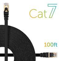 100FT CAT7 Cat 7 RJ45 Ethernet Network Patch Cable - Modem/ Router/ LAN/ MAC Lot