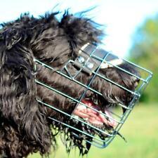 Best Metal Wire Basket Dog Muzzle for Black Russian Terrier Medium Large Size UK