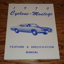 1970 Mercury Cyclone Montego Feature & Specification Manual 70
