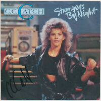 "C. C. Catch - Strangers By Night - 7"" Single - Coverhülle SIGNIERT"