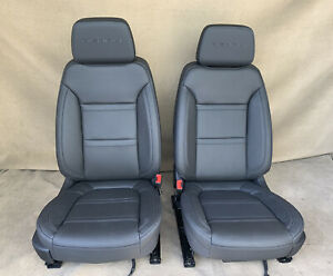 2021 2020 2019 GMC Sierra Denali Front Seats In Black Leather