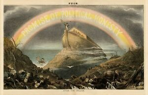 NOAH'S ARK RAINBOW AFTER THE DELUGE PROMISE OF POLITICAL HONESTY JOHN SHERMAN