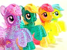 MLP FiM Blind Bag Glitter Lot Sunshower Rainbowshine Sassaflash Rays Figure Card